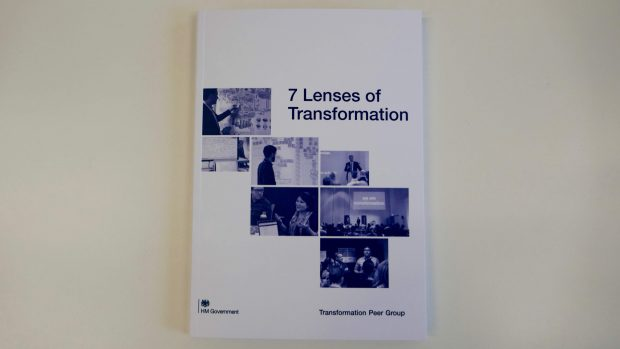 The 7 Lenses of Transformation booklet was published in May and has been shared across government